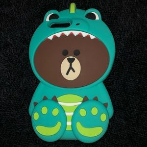Teddy Bear Monster Iphone 7 8 Plus Phone Case